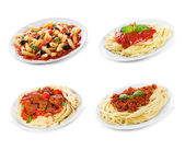 Set with different pasta and spaghetti — Stock Photo