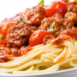 Pasta with meatballs and tomato sauce — Stock Photo #9577160