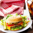 Hamburger with cola — Stock Photo #9577281