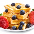 Waffles with strawberry and blueberry — Stock Photo #9693070