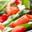 Salad with strawberry - Stock Photo