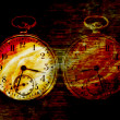 Diabolic abstract clock - Stock Photo
