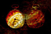 Diabolic abstract clock — Stock Photo