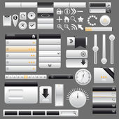 Web and mobile interface elements,vector — Stock Vector