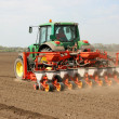 Seeding tractor — Stock Photo