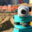 Theodolite on site — Stock Photo