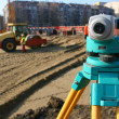 Stock Photo: Theodolite on site