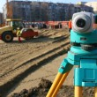 Theodolite on site — Stock fotografie