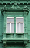 Green old window — Stock Photo