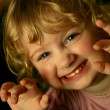 Scary little girl — Stockfoto
