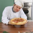 Royalty-Free Stock Photo: Chef and pizza
