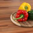 Color bellpeppers — Stock Photo