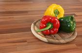 Farbe bellpeppers — Stockfoto