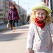 Girl and hat — Stockfoto
