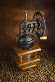 Mechanical coffee grinder — Stock Photo