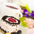 Cake on the saucer - Foto Stock