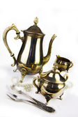 Ancient expensive coffee service — Stock Photo