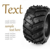 Wheel with a large tread — Stockfoto