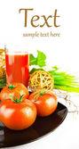 A glass of fresh tomato juice — Стоковое фото