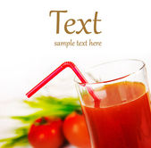 A glass of fresh tomato juice — Stock Photo