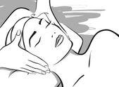 Piękne kobiety w obliczu spa — Wektor stockowy