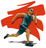 Professional athlete runner — Stock Vector