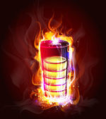 Source of energy in the flame — Vector de stock