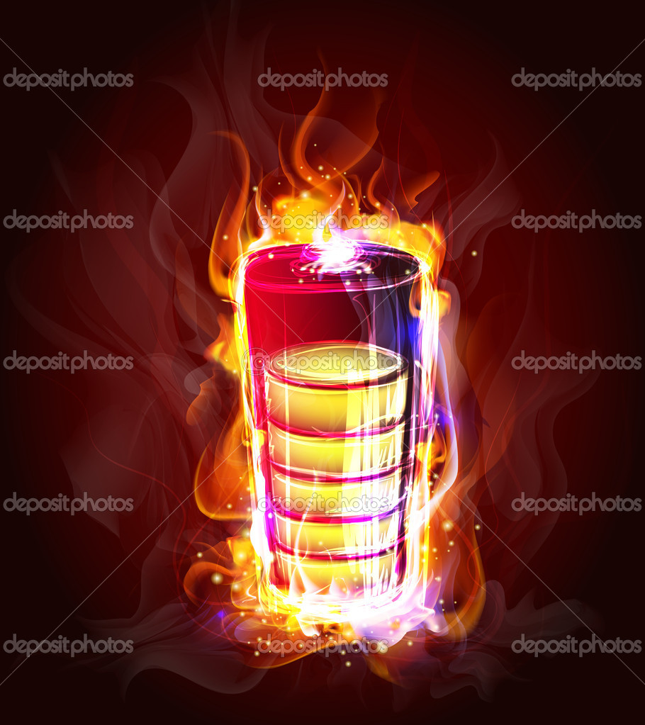 Source of energy in the flame  (Vector Illustratio) — Stock Vector #9447134