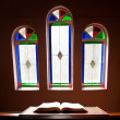 Church with lead glass windows — Stock Photo