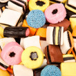 Liquirice allsorts lying on pile — Stock Photo #8450229