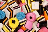 Different all sorts sweets in a pile — Stock Photo