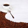 Brown path of coffee beans — Stock Photo