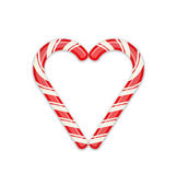 Candy cane heart symbol — Stock Vector