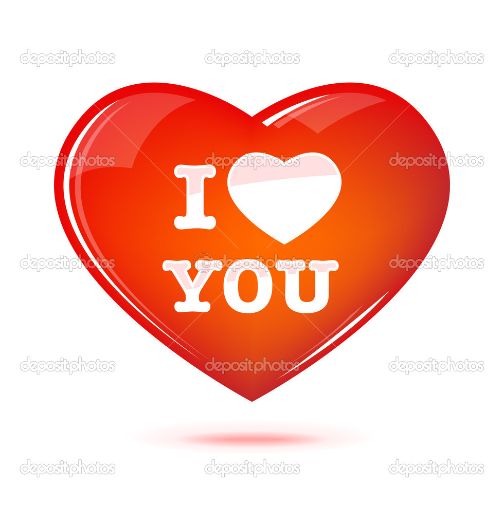 Heart illustration. Happy Valentine's Day — Stock Vector #8898188