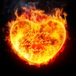 Heart in fire — Stock Photo #8916804