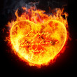 Royalty-Free Stock Photo: Heart in fire