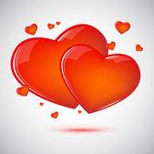Two Hearts — Cтоковый вектор