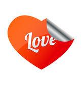 любовь сердца стикер. — Cтоковый вектор