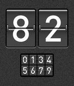 Odpočítávací měřič — Stock vektor