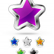 Star icons — Stock Vector