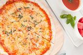 Italian original thin crust pizza — Stock Photo