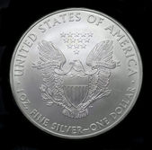 American silver eagle dollar coin — Stock Photo