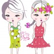 Vector de stock : Fashion kids