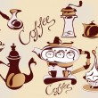 Set of coffee elements — Imagen vectorial