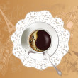 Background with a coffee cup — Imagens vectoriais em stock