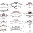 Set of vintage frames - Image vectorielle