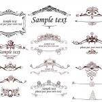 Set of vintage frames — Stock Vector
