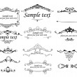 Set of vintage frames — Vector de stock #9473542