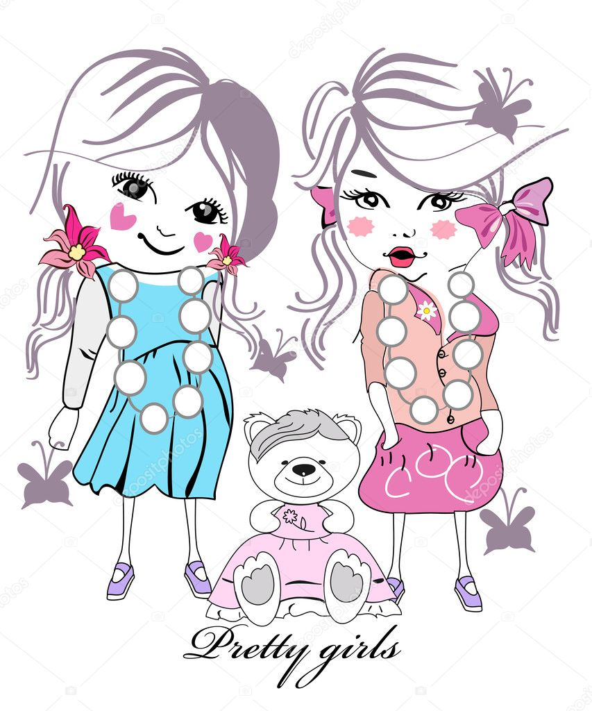 Girl Kids Fashion Illustration Fashion Little Girl Kid With