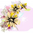 Delicate floral background with flowers — Stock Vector